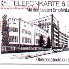 Tarjetas telefónicas de colección: 16-399. ALEMANIA. EDIFICIO BERLIN. Lote 247812