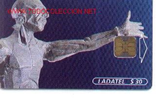 16-749. ESCULTURA. CARRERA AL UNIVERSO (Coleccionismo - Tarjetas Telefónicas)