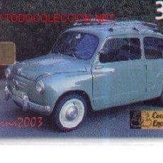 Tarjetas telefónicas de colección: 1503-40. SEAT 600. NUEVA. Lote 12184729