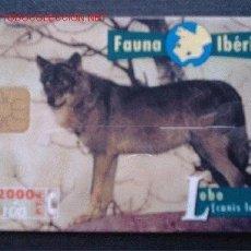 Tarjetas telefónicas de colección: FAUNA IBERICA: LOBO. Lote 269321373