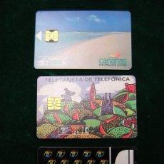 Tarjetas telefónicas de colección: LOTE DE 3 TARJETAS TELEFONICAS USADAS-DIFERENTES. Lote 5459754