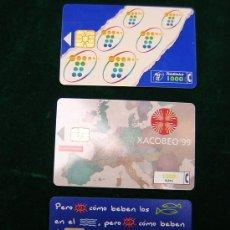Tarjetas telefónicas de colección: LOTE DE 3 TARJETAS TELEFONICAS USADAS-DIFERENTES. Lote 5459762