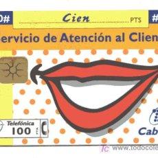 Tarjetas telefónicas de colección: RARA TARJETA TELEFONICA // 100 PESETAS . Lote 14227603