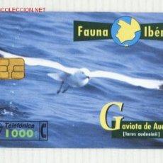Tarjetas telefónicas de colección: TARJETA TELEFONICA FAUNA IBERIA ( GAVIOTA DE AUDOUIN ). Lote 2326636