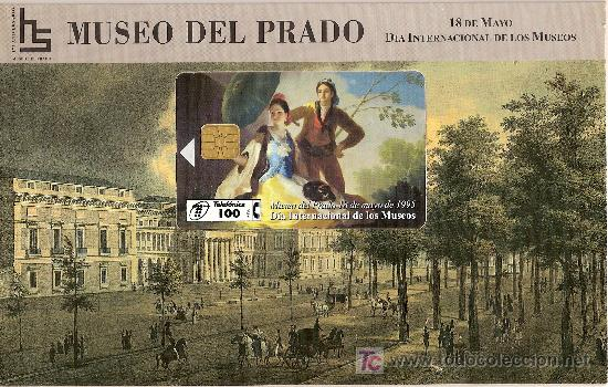 FOLDER MUSEO DEL PRADO EL QUITASOL DE GOYA A PRECIO DE COSTE (Coleccionismo - Tarjetas Telefónicas)