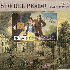 Tarjetas telefónicas de colección: FOLDER MUSEO DEL PRADO EL QUITASOL DE GOYA A PRECIO DE COSTE. Lote 26202246