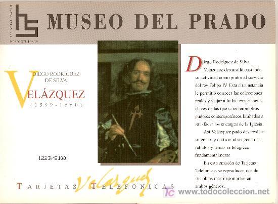 FOLDER MUSEO DEL PRADO DEDICADO A VELAZQUEZ, PRECIOSO (Coleccionismo - Tarjetas Telefónicas)