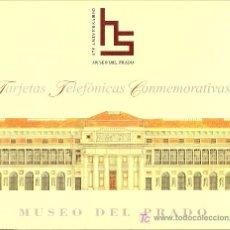 Tarjetas telefónicas de colección: FOLDER MUSEO DEL PRADO DEDICADO AL ANIVERSARIO DEL MUSEO LIQUIDACIÓN. Lote 26202252