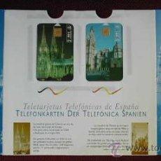 Tarjetas telefónicas de colección: BLISTER CON DOS TARJETAS TELEFONICAS CATEDRAL DE ESSEN Y DE TOLEDO (MUY RARO). Lote 26218764