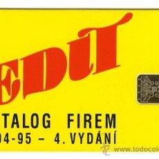 Tarjetas telefónicas de colección: TARJETA TELEFONO REPUBLICA CHECA 50000 TIRADA 1993 RARA. Lote 25962322