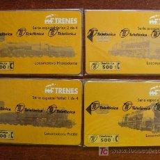 Tarjetas telefónicas de colección: COLECCIÓN COMPLETA: 4 TARJETAS TELEFÓNICAS DE TRENES. PRECINTADAS. 11 - 1998. TELEFÓNICA. . Lote 15152110