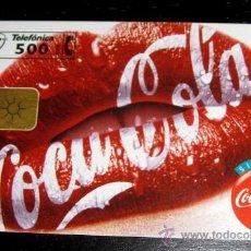 Tarjetas telefónicas de colección: TARJETA TELEFONICA COCA COLA - 500 PESETAS. Lote 16031209