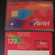 Tarjetas telefónicas de colección: AIRTEL TARJETA CONTRATO GSM 3 BRILLO P-I- 2 . Lote 18975529
