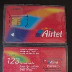 Tarjetas telefónicas de colección: AIRTEL TARJETA CONTRATO GSM 12 P-I- 6 GYD EN EL P-I- REVERSO. Lote 18975617