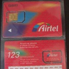 Tarjetas telefónicas de colección: AIRTEL TARJETA CONTRATO GSM 14 P-I- 1 LOGOTIPO EXCEL DATA REVERSO. Lote 18975633