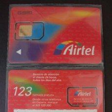 Tarjetas telefónicas de colección: AIRTEL TARJETA CONTRATO GSM 00 P-I- 6 LOGOTIPO GYD EN EL REVERSO. Lote 18975715