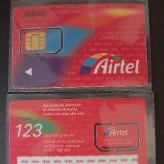 Tarjetas telefónicas de colección: AIRTEL TARJETA CONTRATO GSM 11 P-I- 1 TWIN 900 RARA. Lote 18975738