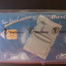 Tarjetas telefónicas de colección: TARJETA ESPAÑA NUEVA CON PRECINTO P-260 BAXTER 04-97. Lote 19347605