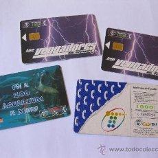 Tarjetas telefónicas de colección: LOTE DE TARJETAS TELEFONICAS - LOS VENGADORES - ZOO AQUARIUM - CABITEL. Lote 28339700