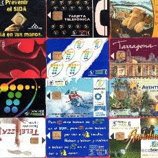 Tarjetas telefónicas de colección: 57 - TARJETAS TELEFONICAS ESPAÑOLAS USADAS FOTOS ADICIONALES . Lote 28435322