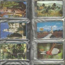 Tarjetas telefónicas de colección: OCASIÓN.- LOTE DE 37 TARJETAS TELEFÓNICAS DE CUBA AÑOS 90, REGALO DE TARJETERO. MIRA RESTO DE FOTOS. Lote 29086603