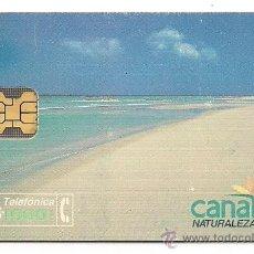 Tarjetas telefónicas de colección: TARJETA TELEFÓNICA USADA. CANARIAS, NATURALEZA CÁLIDA. Lote 99321872