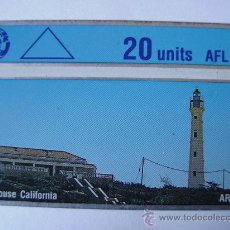 Tarjetas telefónicas de colección: ARUBA - FARO - 1 TARJETAS USADAS. Lote 29381601