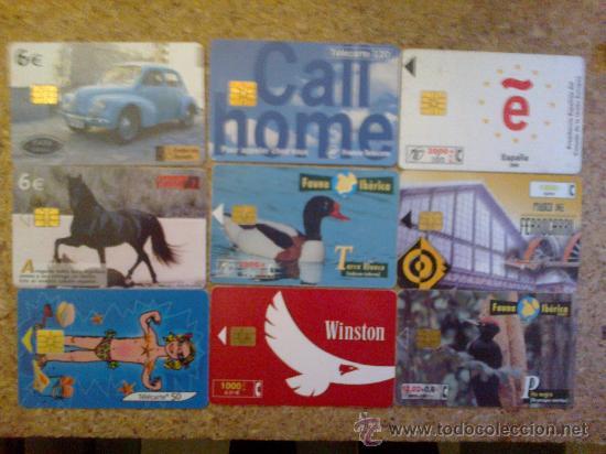 LOTE DE 9 TAJETAS TELEFONO VARIADAS - ESPAÑA Y FRANCIA (Coleccionismo - Tarjetas Telefónicas)