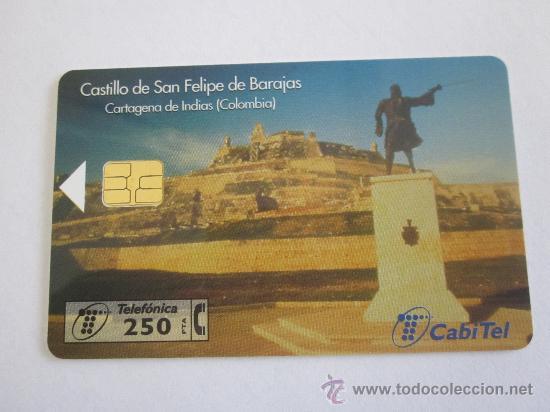 TARJETA TELEFONICA CASTILLO DE SAN FELIPE,FACIAL 250 PTS.TIRADA 6000.AÑO 1998.USADA, (Coleccionismo - Tarjetas Telefónicas)