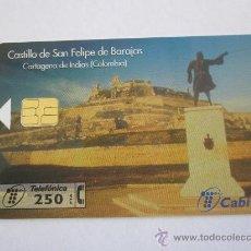 Tarjetas telefónicas de colección: TARJETA TELEFONICA CASTILLO DE SAN FELIPE,FACIAL 250 PTS.TIRADA 6000.AÑO 1998.USADA,. Lote 31965070