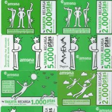 Cartões de telefone de coleção: 11 TARJETAS DIFERENTES DE RECARGA DE AMENA. Lote 34320289