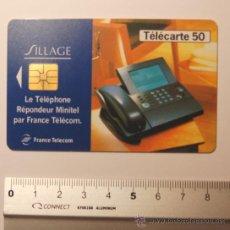 """Tarjetas telefónicas de colección: TARJETA PREPAGO FRANCE TELECOM AÑO 95 """"SILLAGE"""". USADA. Lote 34911303"""
