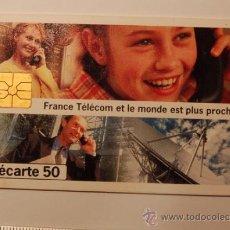 Tarjetas telefónicas de colección: TARJETA PREPAGO FRANCE TELECOM AÑO 96 . USADA. Lote 34911521