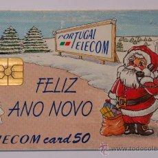 """Tarjetas telefónicas de colección: TARJETA TELEFÓNICA PREPAGO PORTUGAL TELECOM """"FELIZ ANO NOVO"""" . USADA. Lote 34918305"""