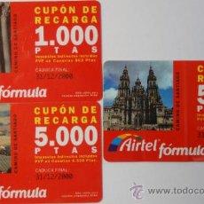 Tarjetas telefónicas de colección: LOTE DE 3 TARJETAS PREPAGO AIRTEL . Lote 34981338