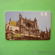 Cartões de telefone de coleção: TARJETA TELEFONICA DE ESPAÑA USADA CP TIRADA 1.000.010 01/10 TARGETAS TELEFONICAS SEVILLA. Lote 35095000