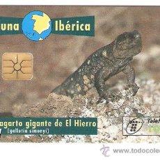 Tarjetas telefónicas de colección: TARJETA TELEFONICA FAUNA IBERICA LAGARTO. Lote 207102871