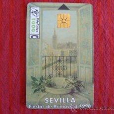 Tarjetas telefónicas de colección: TARJETA TELEF.FIESTAS DE PRIMAVERA SEVILLA 1996. Lote 37442321