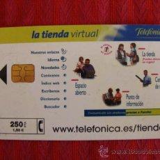 Tarjetas telefónicas de colección: TARJETA TELEFONICA ,LA TIENDA VIRTUAL. Lote 37442767