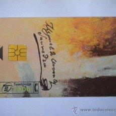 Tarjetas telefónicas de colección: TARJETA TELEFÓNICA CERVANTES 450 ANIVERSARIO. Lote 37530361