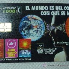 Tarjetas telefónicas de colección: TARJETA DE TELEFONOS AÑOS 90-EL MUNDO ES DE COLOR- USADA. Lote 37942972