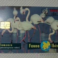 Tarjetas telefónicas de colección: TARJETA DE TELEFONOS AÑOS 90-FAUNA IBERICA, FLAMENCO- USADA. Lote 37943532