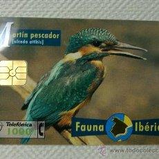Tarjetas telefónicas de colección: TARJETA DE TELEFONOS AÑOS 90-FAUNA IBERICA,MARTIN- USADA. Lote 37943658