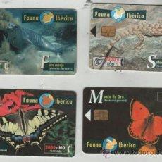 Cartes Téléphoniques de collection: LOTE DE 4 TARJETAS DIFERENTES DE ESPAÑA. Lote 38433846