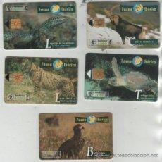 Cartes Téléphoniques de collection: LOTE DE 5 TARJETAS DIFERENTES DE ESPAÑA. Lote 38434355