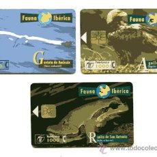 Tarjetas telefónicas de colección: 3 TARJETAS TELEFONICA FAUNA IBERICA / AÑOS 96 - 98. Lote 38793066
