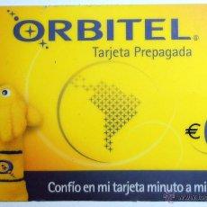 Tarjetas telefónicas de colección: TARJETA TELEFONO ORBITEL TARJETA PREPAGADA.. Lote 42340650