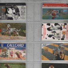 Cartes Téléphoniques de collection: LOTE DE 8 TARJETAS DE PERROS. Lote 42541135