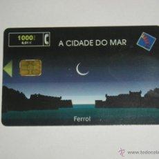 Tarjetas telefónicas de colección: TARJETA TELEFONICA USADA ESPAÑOLA. A CIDADE DO MAR 07/00.. Lote 152031226