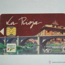 Tarjetas telefónicas de colección: TARJETA TELEFONICA USADA ESPAÑOLA. LA RIOJA 11/94 TIRADA 8.500. Lote 42672158